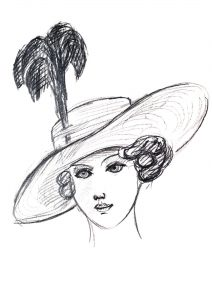 sketch-of-woman-in-hat